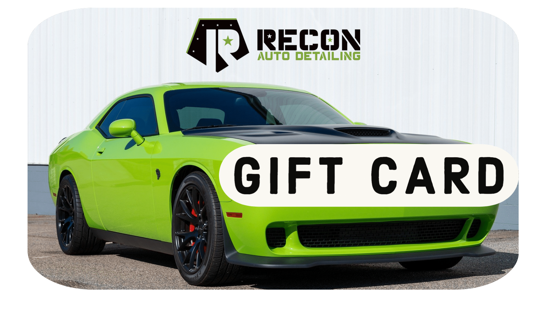 recon auto detailing tucson gift cards